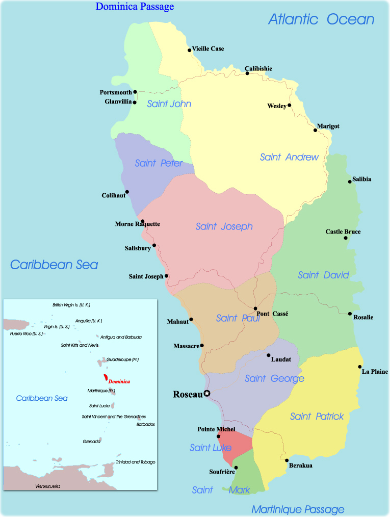 Map Of Dominica Portsmouth - Portsmouth map of us