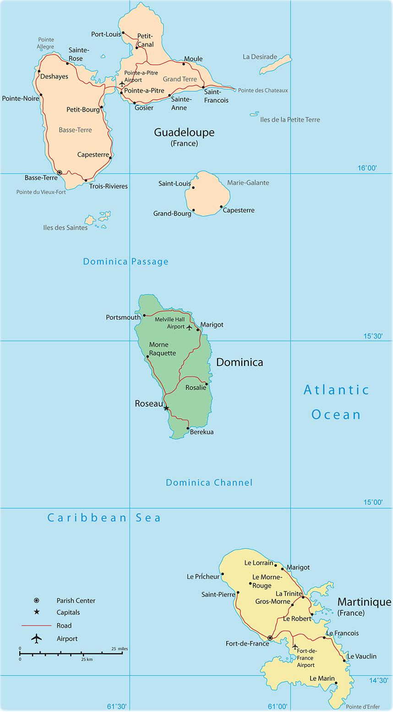 map guadeloupe. map of guadeloupe saint martin basse terre