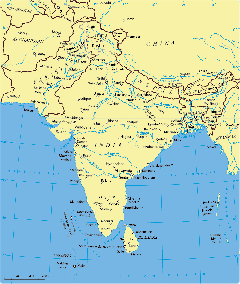 Map Of South China - South asia map