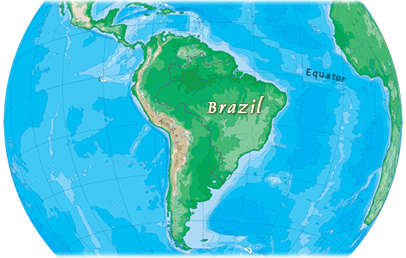 Amazing Brazil On A Map Images - Map Informations - revious.info