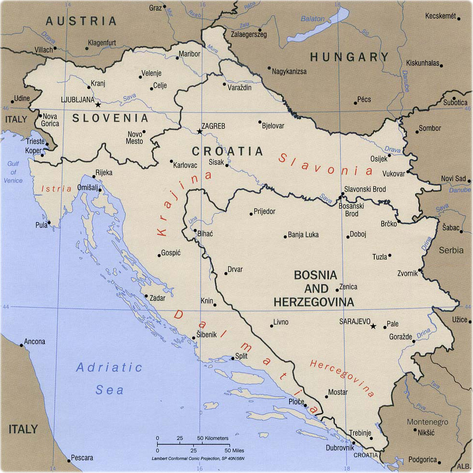 Map Of Former Yugoslavia