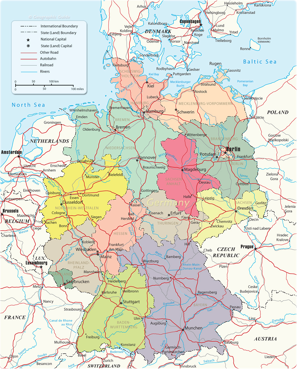 Political Map Of Germany - What is a political map
