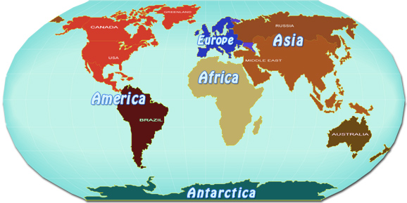 World maps europe asia america africa oceania continents gumiabroncs Image collections