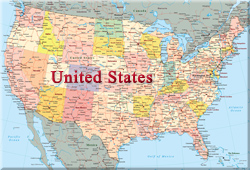 The Map Of America States.Map Of North America