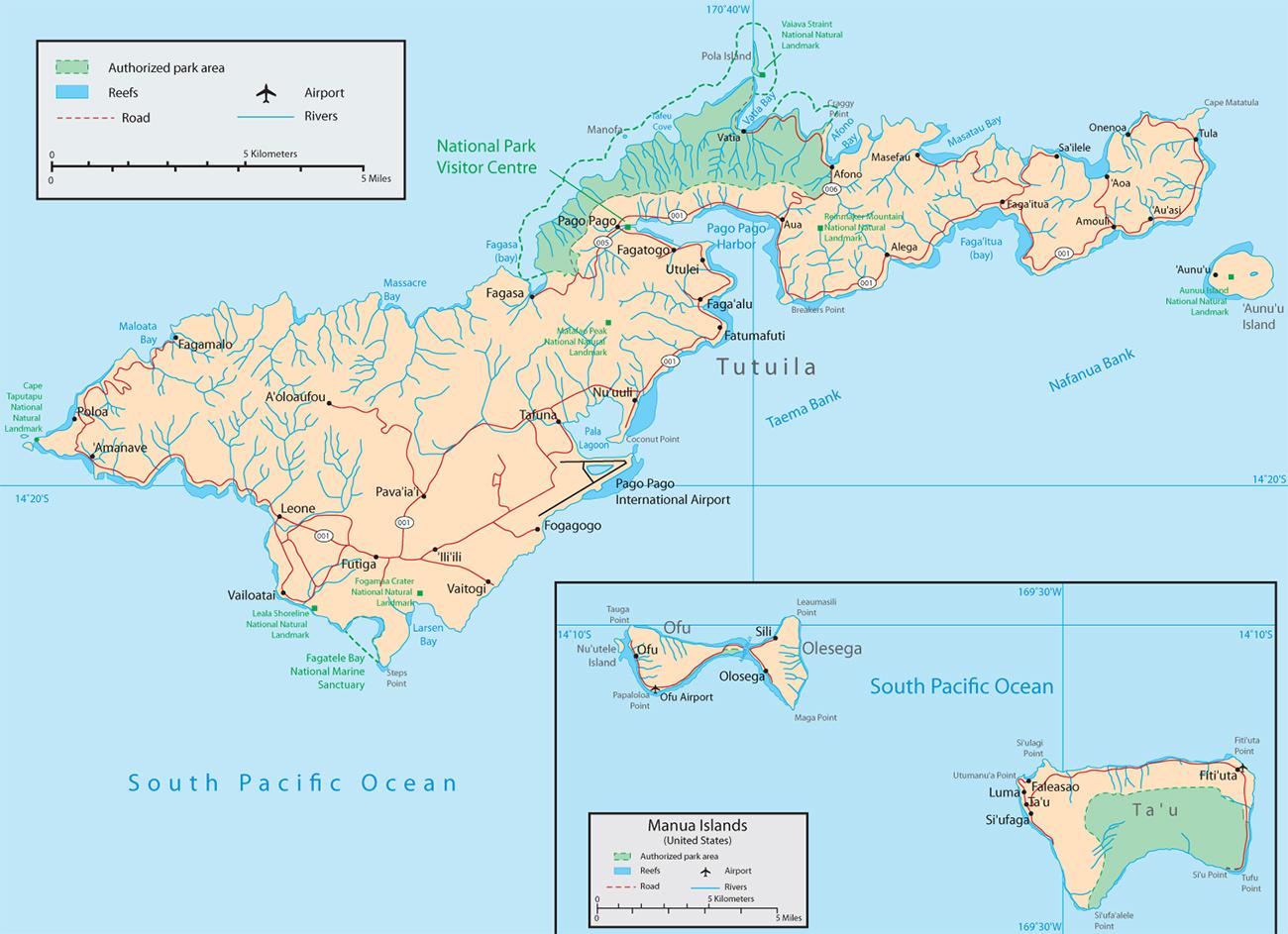 Map American Samoa Pago Pago - Map of american samoa