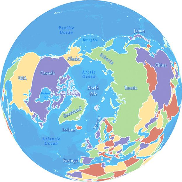 Maps Ot The Arctic Region - Arctic map