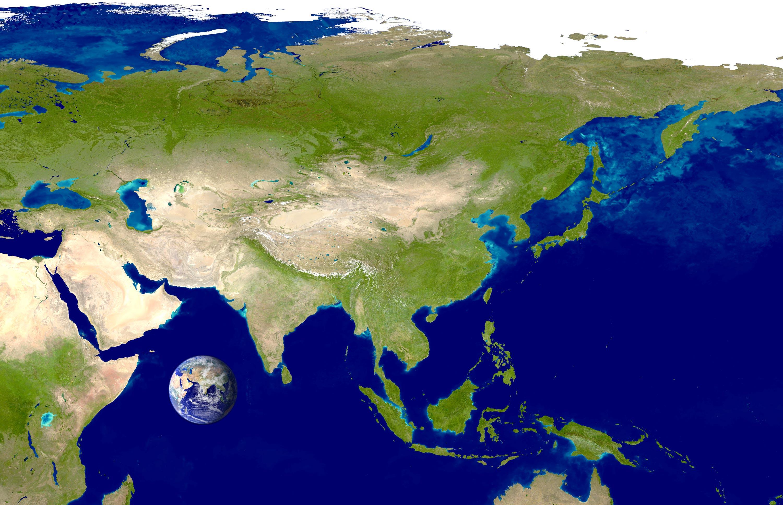 Satellite Image Asia