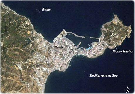 map of ceuta spain travel africa