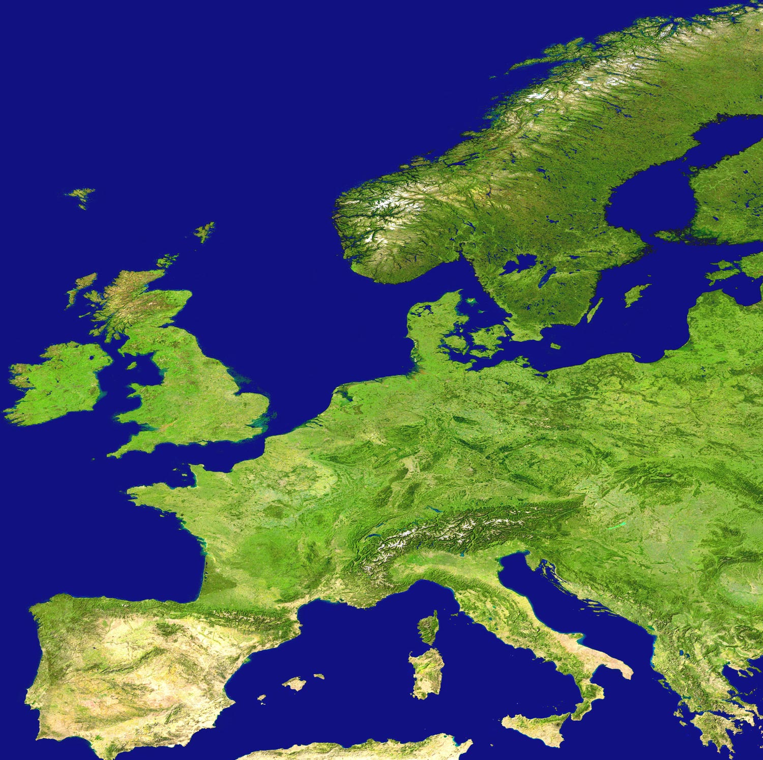Europe Satellite Image - Europe satellite map