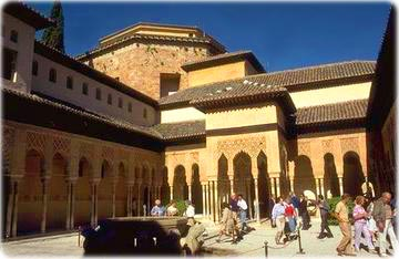 The Moorish Palace of Alhambra, in Granada