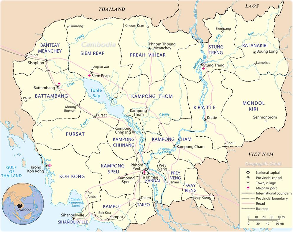Cambodia map phnom penh asia map cambodia gumiabroncs Images