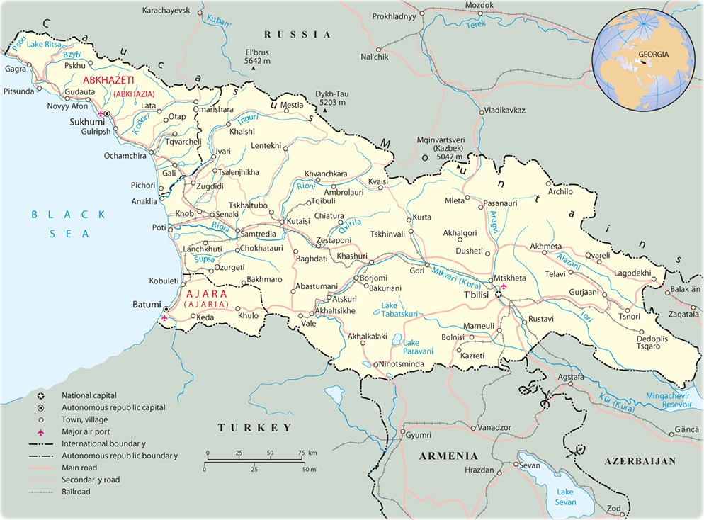 Georgia Map Tbilisi Asia - Georgia map asia