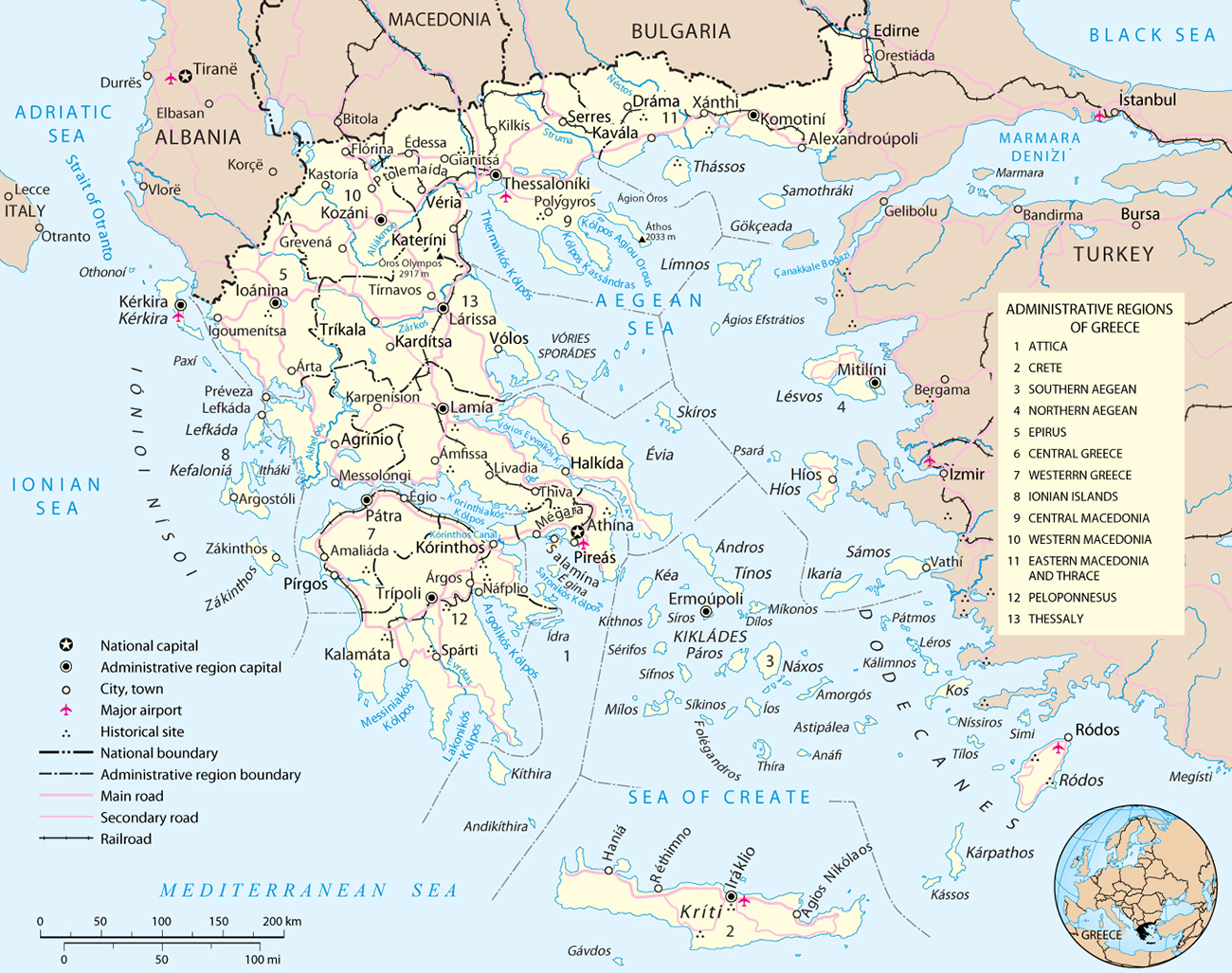 Map Greece