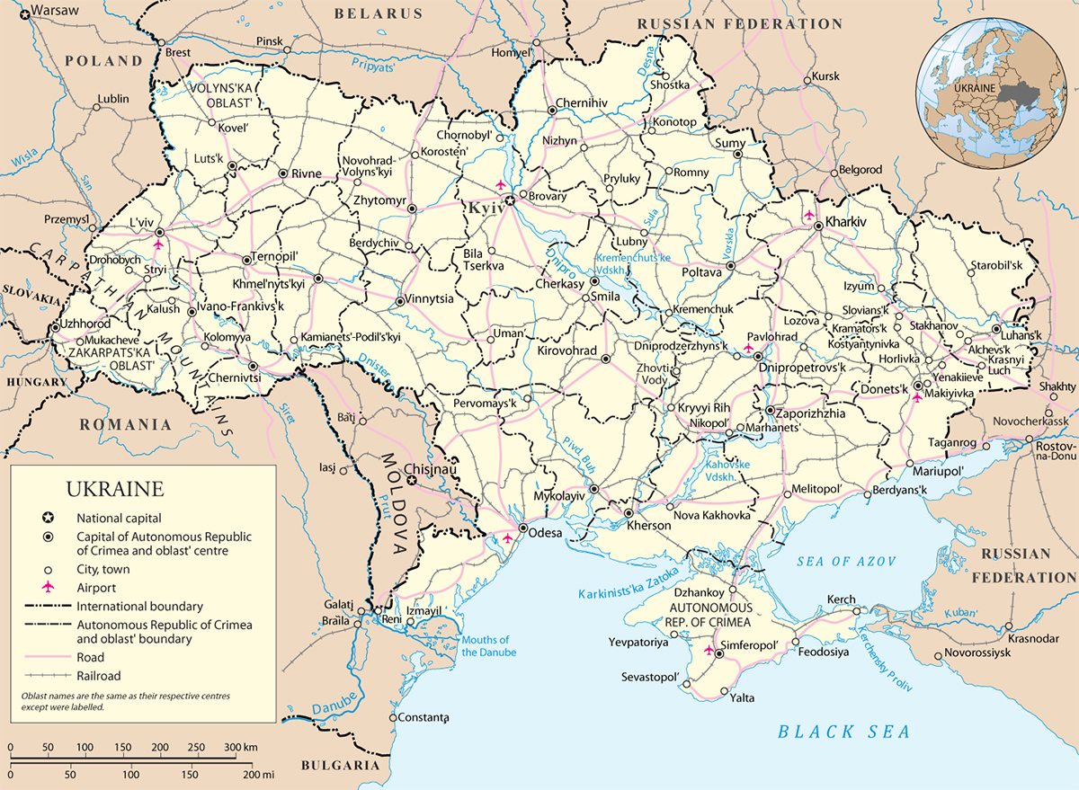 Map Ukraine Travel Europe – Europe Map For Travel