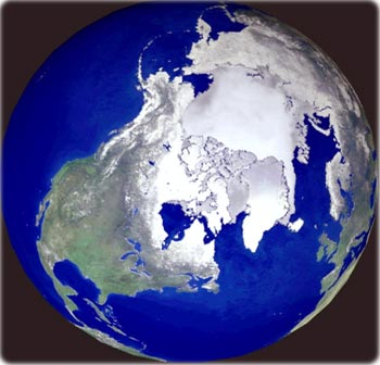 Arctic map north pole arctic north pole earth from space world maps globes gumiabroncs Choice Image
