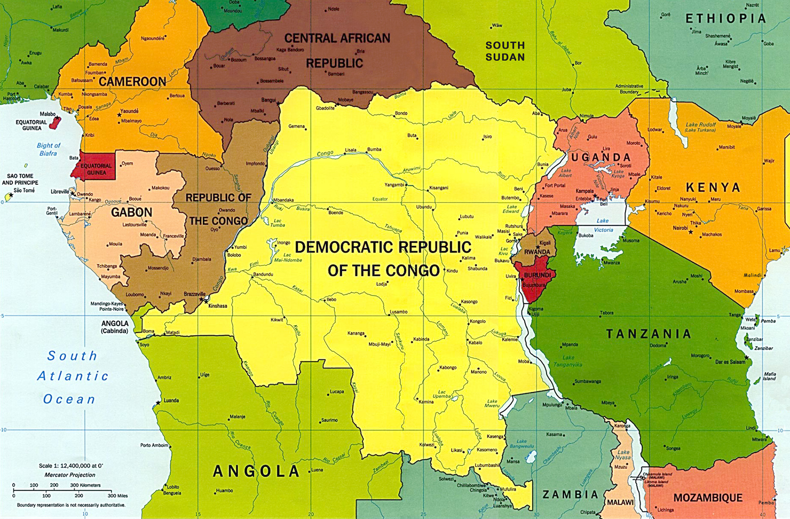 Map of the Central Africa - Travel Guide