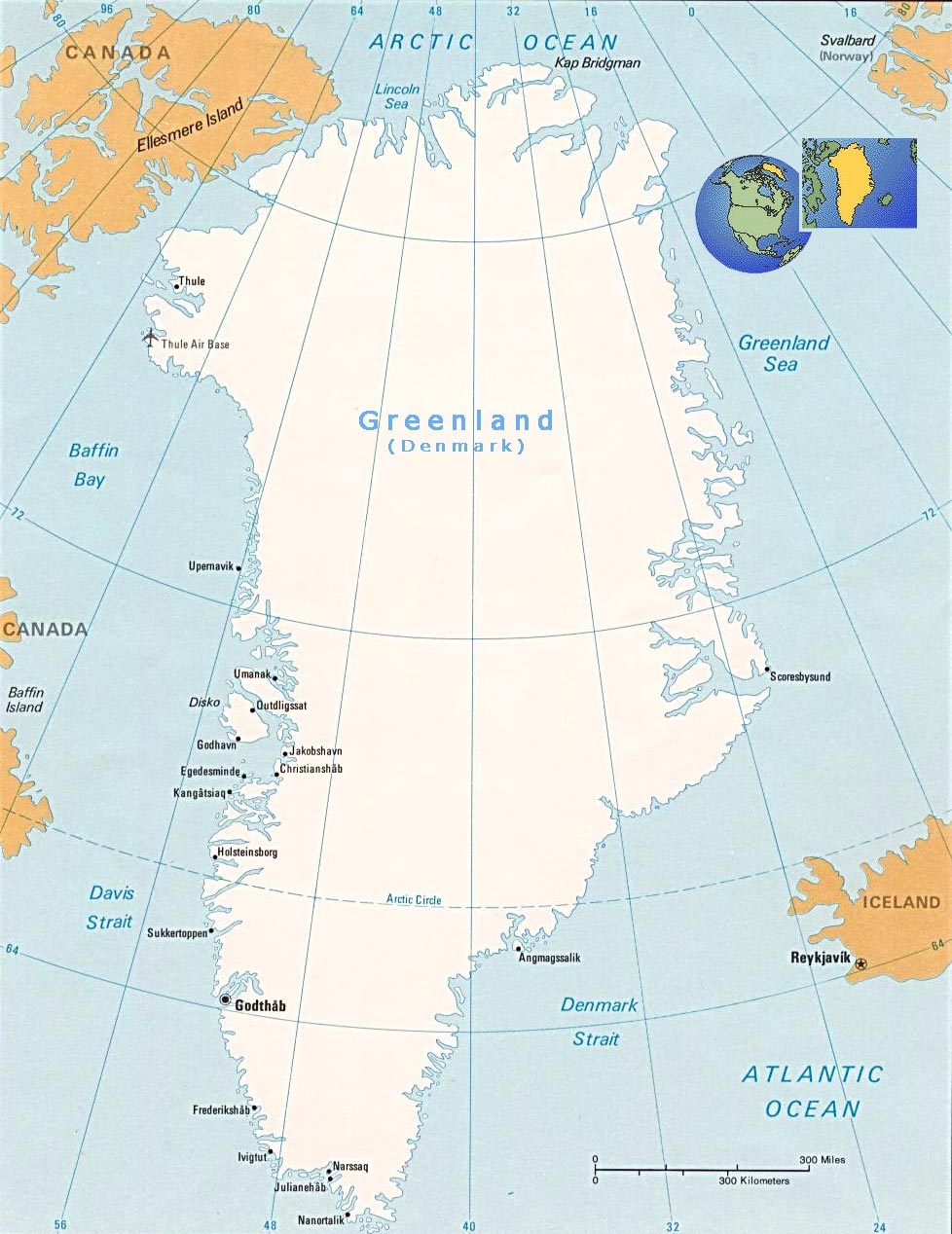 Map Of Greenland Denmark - Map of greenland