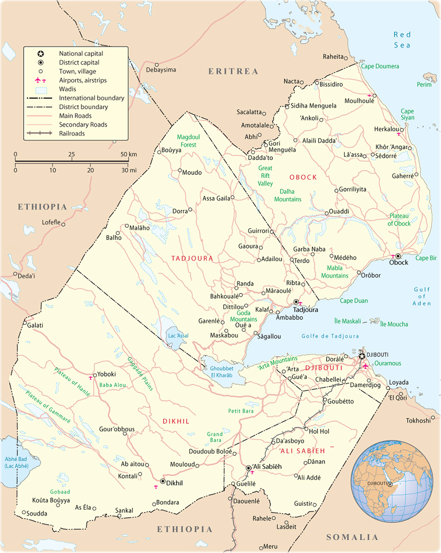 map of djibouti africa Map Of Djibouti Travel Africa map of djibouti africa