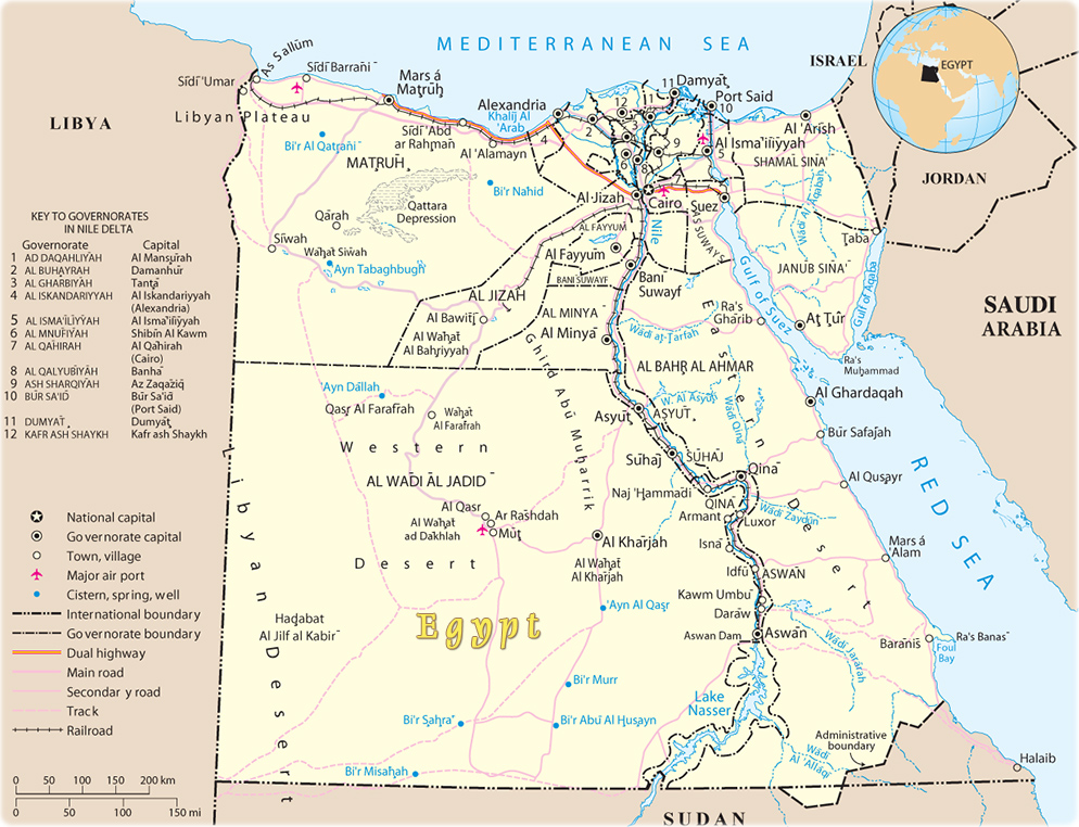 Map of Egypt Cairo Nile Rover