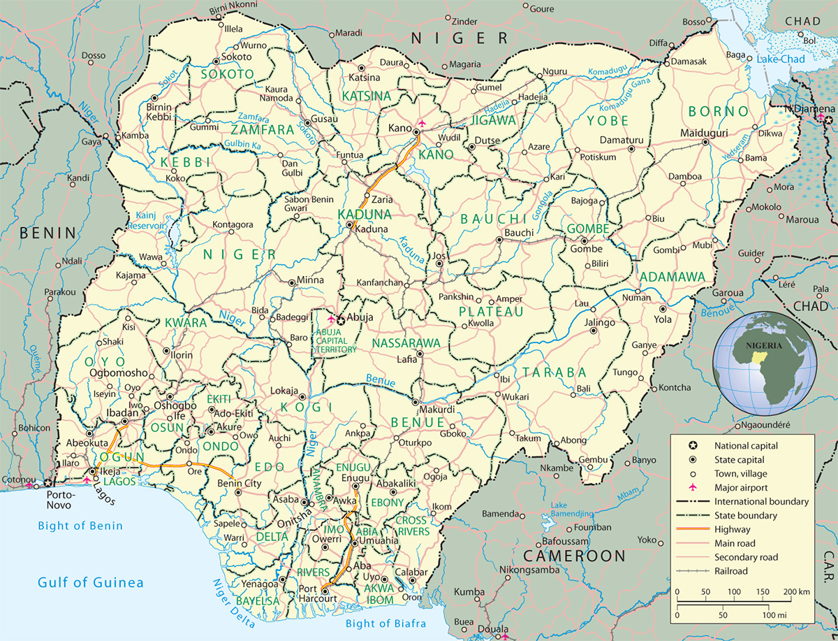 Africa Map Nigeria.Map Of Nigeria Travel Africa