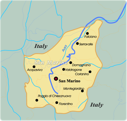 Map San Marino - Travel Europe San Marino Map on sao tome map, slovakia map, saint kitts and nevis, vatican map, poland map, montenegro map, papal states, serbia map, monaco map, american samoa map, reunion map, usa map, yugoslavia map, vatican city, marshall islands, enclave and exclave, landlocked country, wales map, switzerland map, malta map, faroe islands, seychelles map, italy map, luxembourg map, sweden map, slovenia map, andorra map,