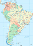 Mapa Am�rica do Sul