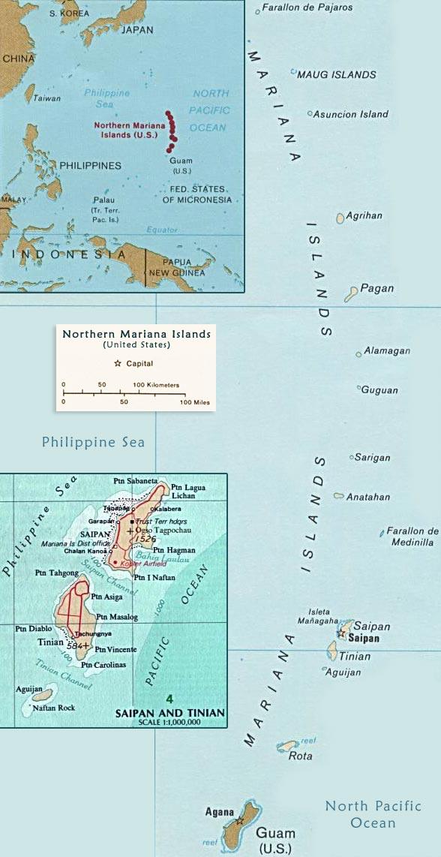 Map Northern Mariana Islands, Saipan