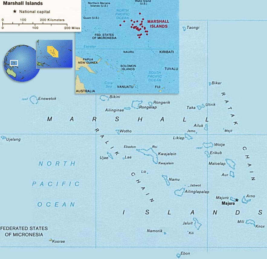 Map Marshall Islands Majuro - Marshall islands map