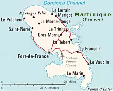 La France Map.Map Of Martinique Fort De France