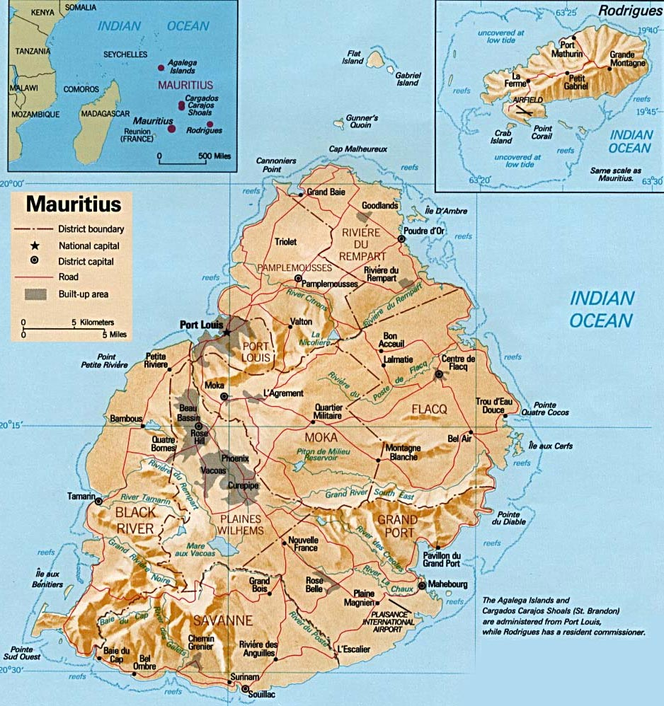 Map of Mauritius Islands   Travel