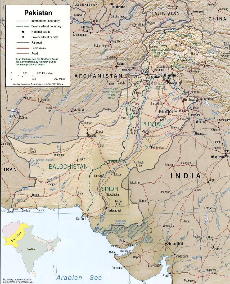 Islamabad Pakistan Map: Pakistan Map, Islamabad