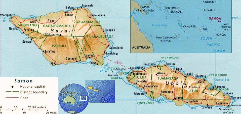 Map Samoa Apia