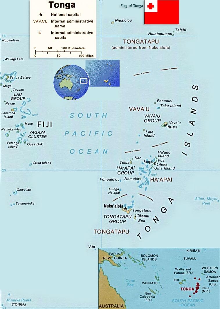Map Tonga Nukualofa - Tonga map
