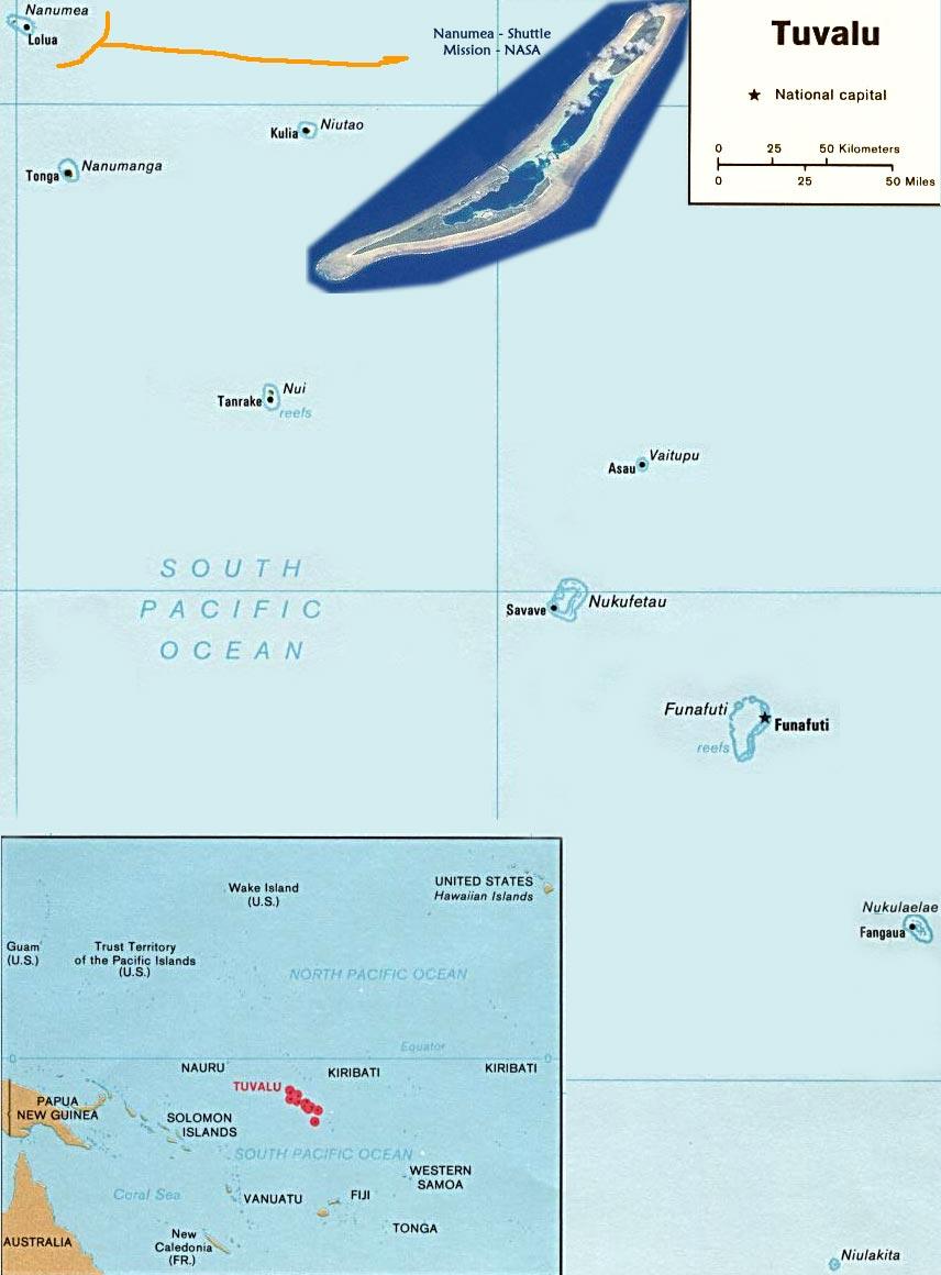 Map Tuvalu Funafuti - Tuvalu map