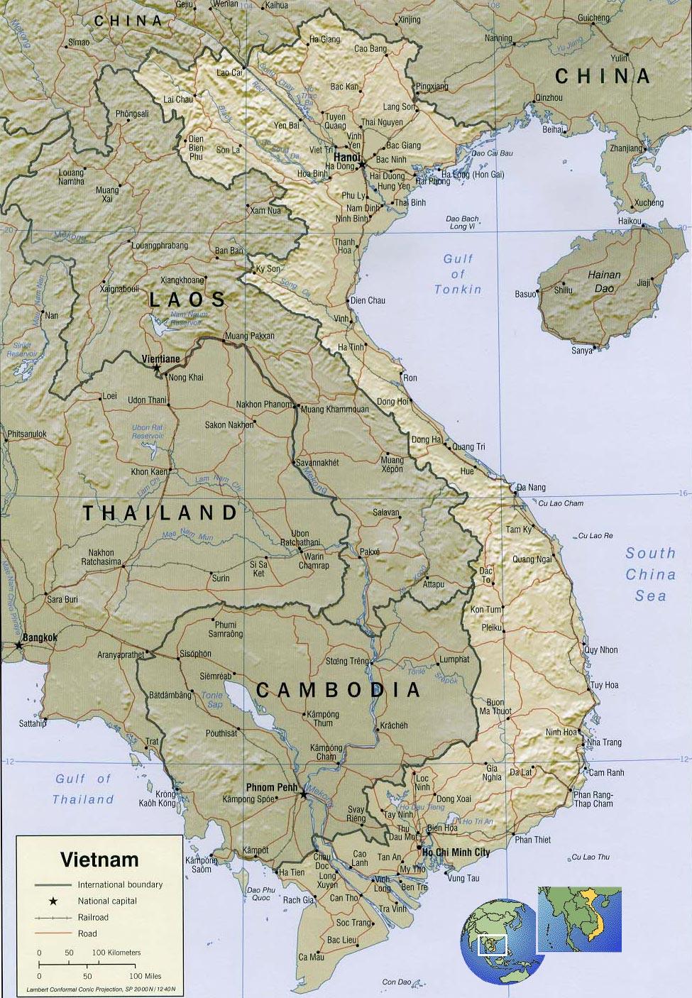 vietnam map hanoi   asia