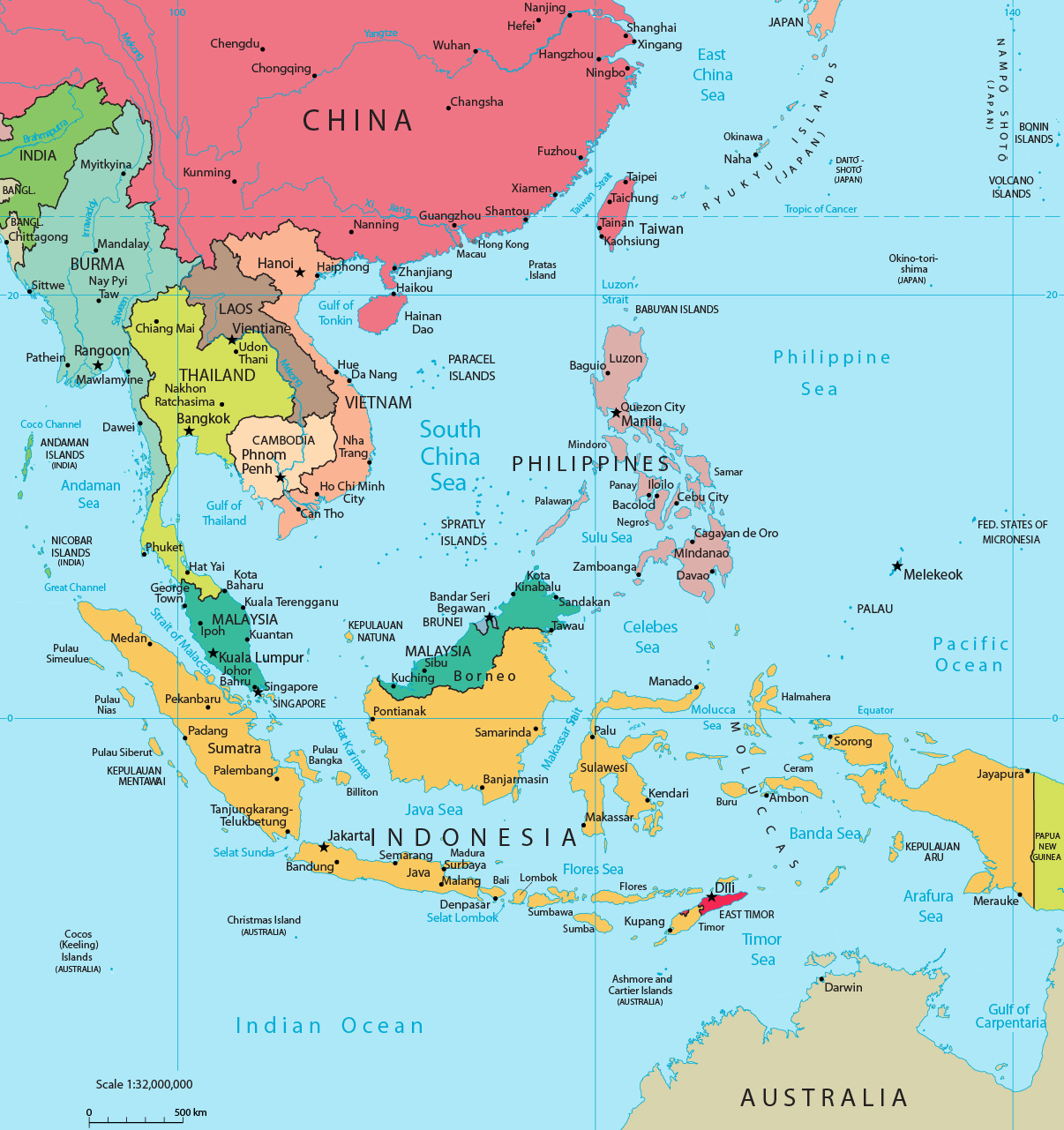 Map of southeast asia indonesia malaysia thailand southeast asia map gumiabroncs Choice Image