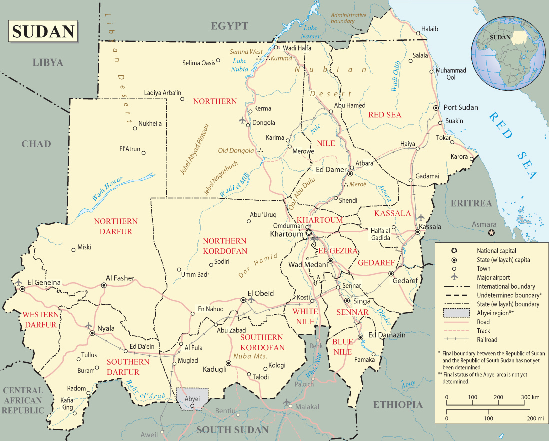 Map Of Sudan Travel Africa - Sudan map