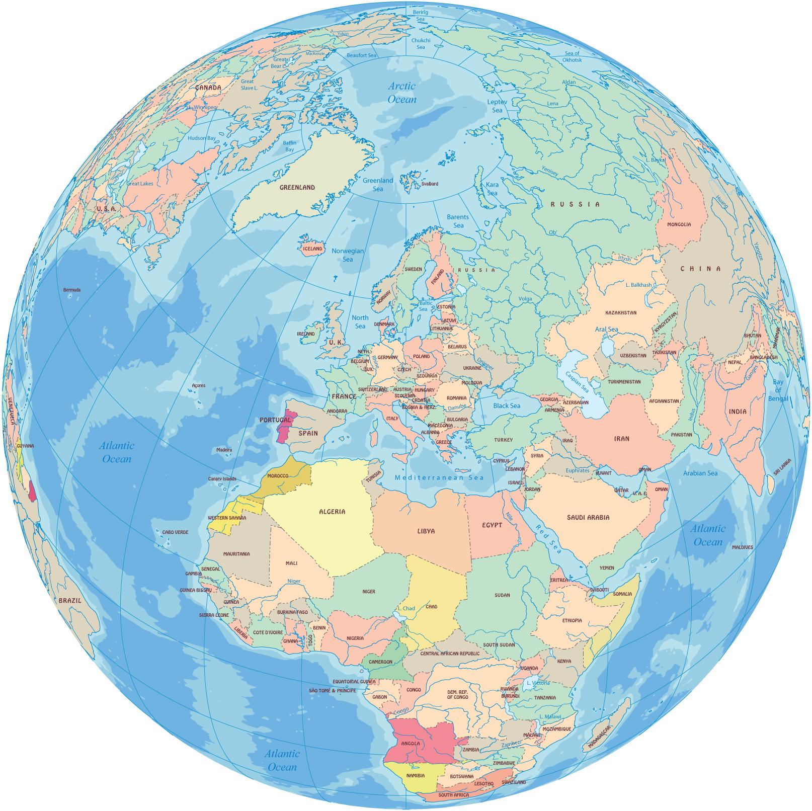 the earth globe map europe map the earth globe map
