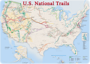 US Trails map