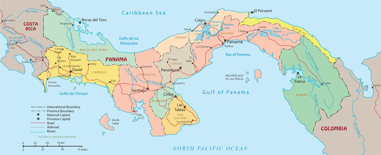 Political Map Of Panama