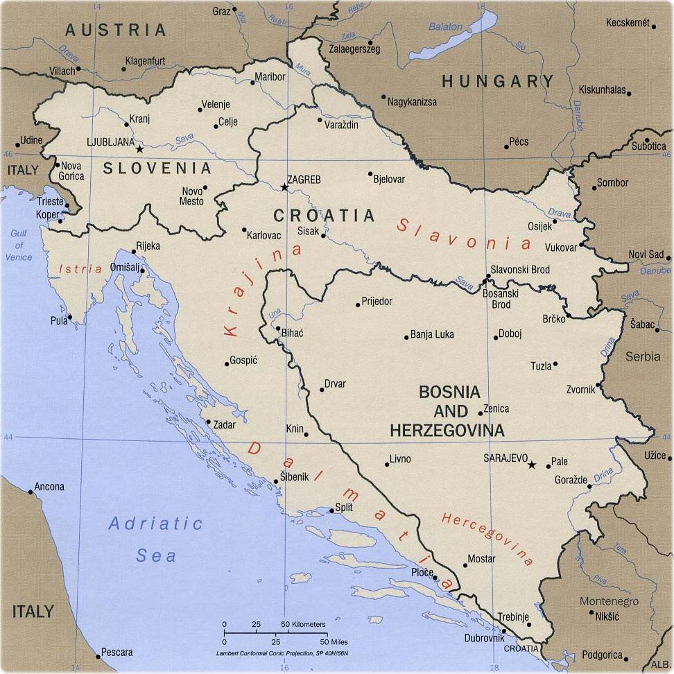 Map Of Yugoslavia Map of Former Yugoslavia Map Of Yugoslavia