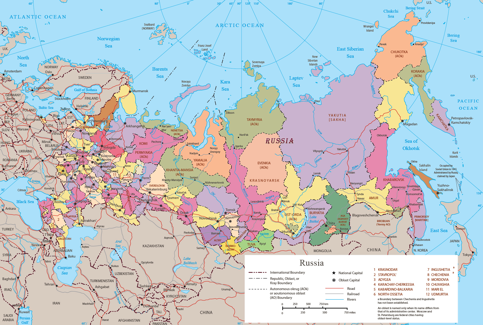 Map Of Europe And Russia Map Russia   Travel Europe