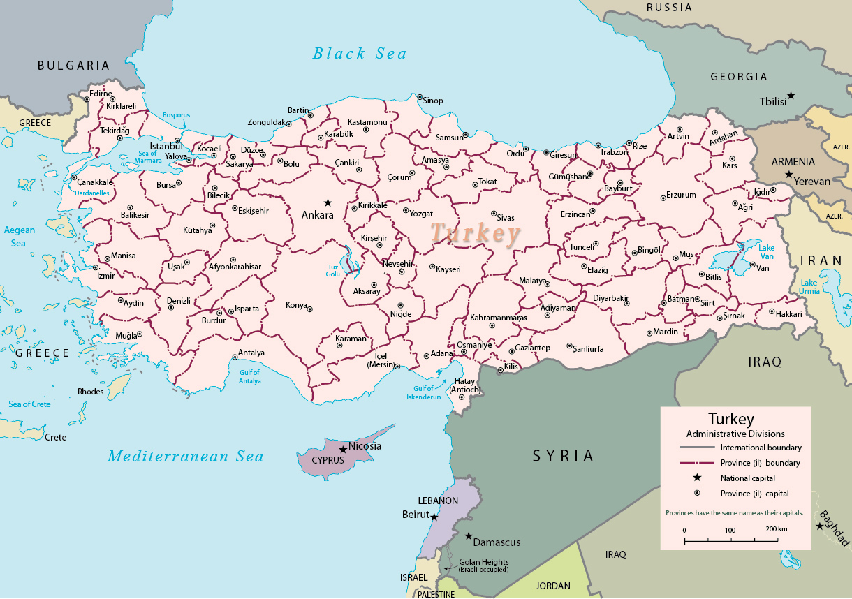 Image of: Map Turkey Travel Europe
