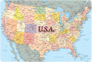 Map 9f America.World Maps Europe Asia America Africa Oceania