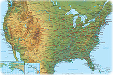 Physical Map Of Texas.Political Map Of Texas State Of The Usa