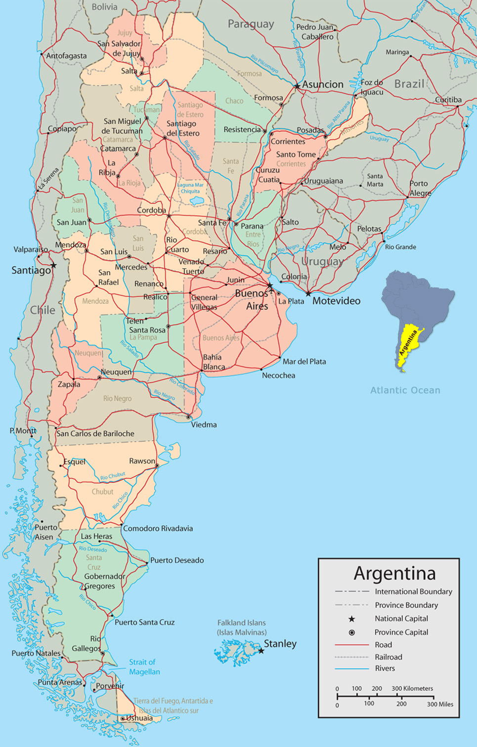 Map Of Argentina Map of Argentina, Buenos Aires Map Of Argentina