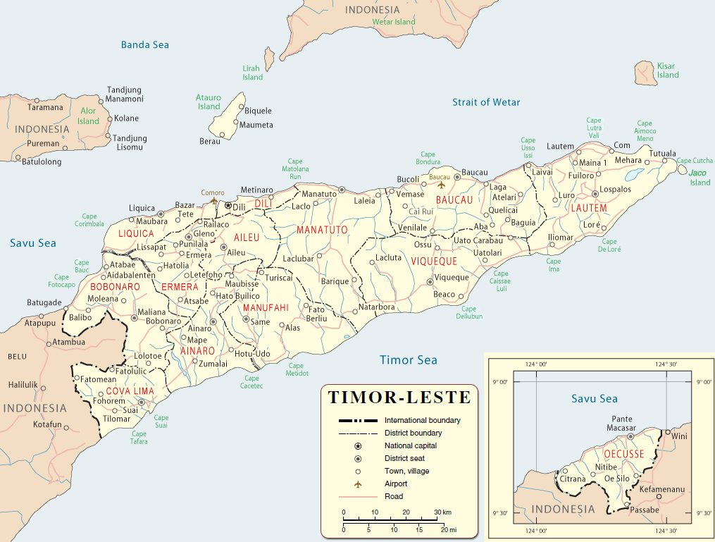 timor mapa East Timor Map, Dili   Timor Leste   Asia timor mapa