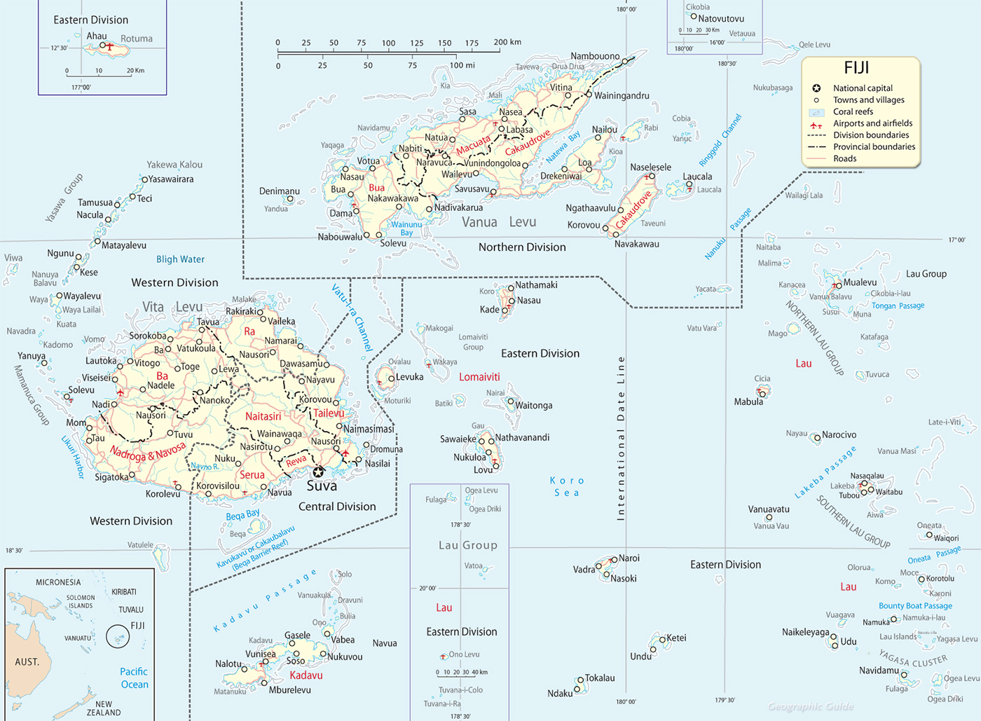 Fiji Island Map Map Fiji Islands, Suva Fiji Island Map
