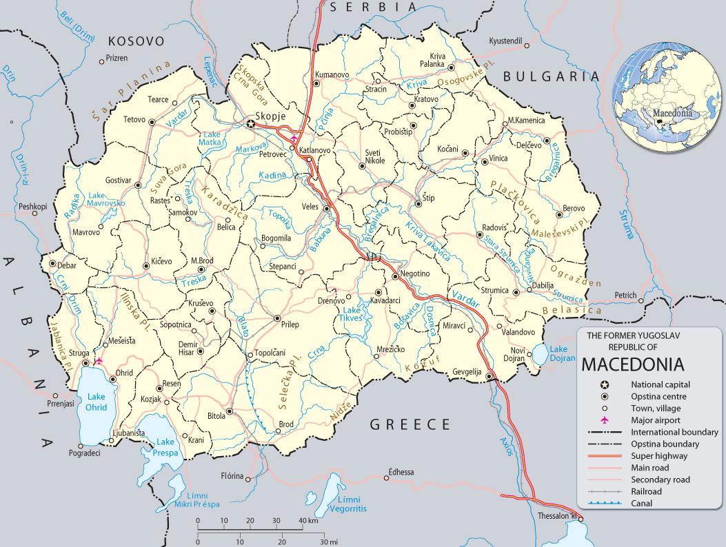 Map Of North Macedonia Travel Europe