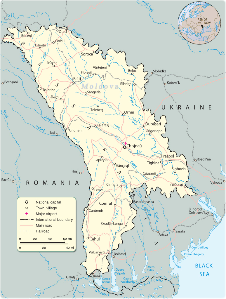 Map Moldova   Travel Europe